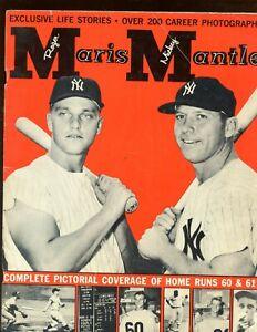 1962 Mickey Mantle & Roger Maris Magazine VG