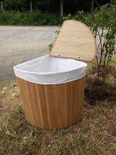 Wäschekorb Wäschetruhe Wäschesortierer Wäschesammler Bambus Ecke B45xH60cm