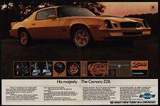 1978 CHEVROLET CAMARO Z28 Gold Sports Car - His Majesty - VINTAGE AD