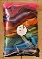 130g  Pure blended Merino Wool Tops Roving for felting and spinning. Colourful