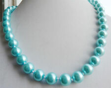 "10mm fine bule South Sea Shell Pearl Necklace 18"" YL"