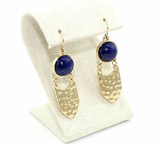 Fashion Gold Plated Natural Stone Lapis lazuli Drop Earrings Fashion