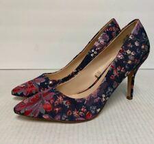 Nine West Multicolored Floral Heels Women's Size 8