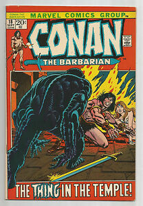 """Conan the Barbarian #18: Bronze Age Grade 8.5  Find """"The Thing In The Temple""""!!"""