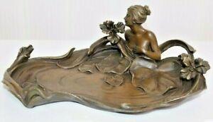 Exclusive Bronze Schale im Jugendstil , sign.E.Tell, Breite 26cm , 1,8Kilo //192