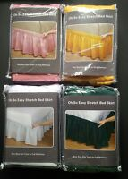 Oh-So-Easy Stretch Bed Skirt polyester wrap around elastic, shiny, The Paragon