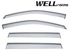 For 17-Up Jeep COMPASS WellVisors Side Window Visors Deflectors w/ Black Trim