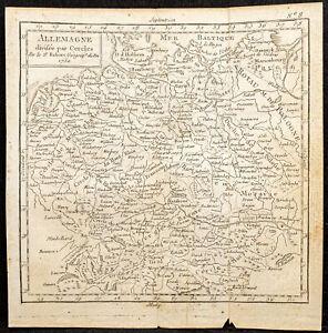 1750 - antique map of Germany - Per Vaugondy