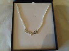freshwater pearls and silver plated filigree hearts,Equilibrium,new,rrp £24.99