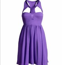 VERSACE for H&M LE Haltered Purple Silk Dress Women's