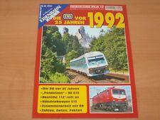 """Eisenbahn Kurier Spezial 127 """"Die DB vor 25 Jahren 1992"""" Ausgabe 2018"""