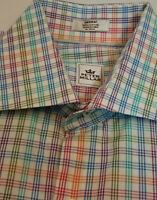 PETER MILLAR Crown Mens Button Long Sleeve Casual Dress Shirt Check Plaid Med