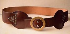 Vintage Retro Fashion Stylish Genuine Leather Women's Belt With Brass Buckle