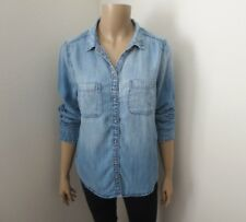 NWT Abercrombie Womens Chambray Button Down Shirt Size Medium