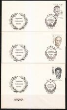 Soviet Russia 1990 set of 3 FDC covers Nobel prize winners Famous Writers
