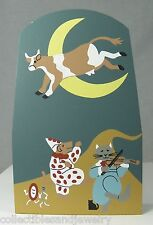 Cat's Meow Village Collectible Cow Jumped Over Moon Nursery Rhyme Accessory 1997