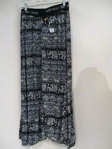 Elephant batik sheer wide leg cover up pants One Size NEW! NWT  *