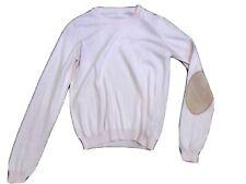 maison martin margiela pink elbow crewneck sweater size 4