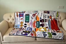 Friends Central Perk Hugsy Single-sided Printing Soft Plush Towel Throw Blanket