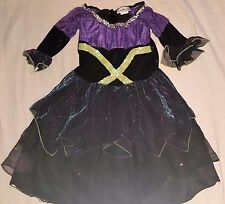 Imagination Workshop Witch Costume/Dress Black Purple Yellow Spiderweb Skirt 4-6