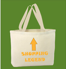 100% Cotton Shopping Legend Printed Funny Humorous Tote Bag For Life