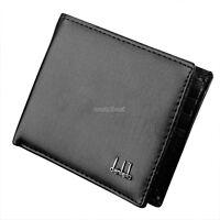 Men Black Leather Wallet Pocket Coin Card Money Holder Clutch Bifold Slim Purse%