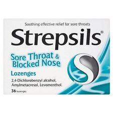 Strepsils Sore Throat And Blocked Nose Lozenges - 6 Pack