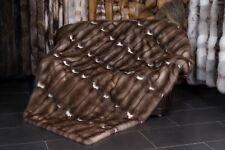2320 Steinmarder Pelz Decke aus europäischem Steinmarder Echt Fell Quilt Pelz