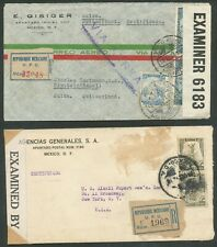 MEXICO 2 EARLY REGISTERED CENSOR COVERS NEEDS CLEANING BIN PRICE GB£10.00