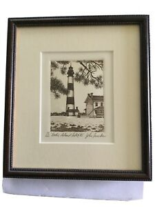 NC Bodie Island Lighthouse III   Framed  79/200 By John Furches