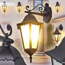 schwarze Laterne Veranda Terrassen Außen Wand Lampe Garten Hof Leuchte klassisch