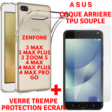 Coque TPU + Film Verre Trempé Vitre Ecran Protection ASUS ZENFONE 3MAX/4MAX/GO