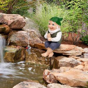 Funny Elf Ornament Garden Gnome Figurine Resin Statue Yard Home Decor Christmas