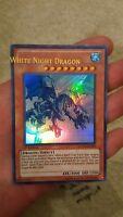 YUGIOH MISPRINT WHITE NIGHT DRAGON LCGX-EN205 1ST EDITION ULTRA RARE MINT!