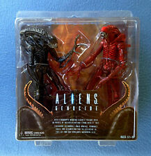 ALIENS GENOCIDE TWO PACK RED AND BLACK XENOMORPHS NECA REEL TOYS 2013 FIGURES