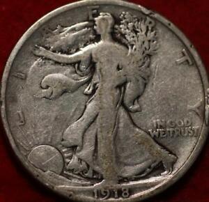 1918-D Denver Mint Silver Walking Liberty Half