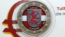 2 euro 2017 LETTONIA color farbe farbig couleur Kurzeme Lettonie Lettland Latvia