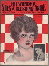 No Wonder She's A Blushing Bride 1926 Sheet Music
