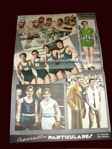OLYMPIC GAMES BERLIN 1936 - Rare ORIGINAL Poster WINNERS OF GOLD MEDALS
