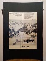 Pubblicità originale Lancia Flavia 25.1.1966 da rivista in passepartout