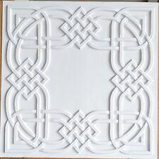 Ceiling tiles Faux tin white matt decor  basso-relievo saloon wall panel PL61