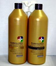 Pureology Nano Works Gold Shampoo & Conditioner 33.8 Liter Set Pumps Nanoworks