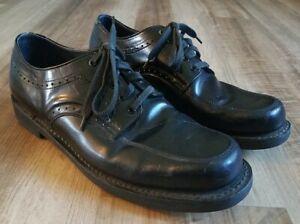 Brahma Men's Oxfords Shoes Size 10.5 D Dress Black Leather Oil Resistant Shoes