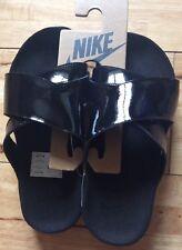 NikeLab Taupo Premium Patent Leather Sliders Sandals 849756-001 UK5.5/EU38.5/US6