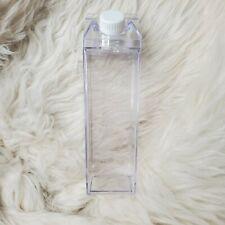 Acrylic Clear Milk Carton Water Bottle