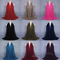 Muslim Women Chiffon Hijab Long Scarf Islamic Headscarf Wrap Shawls Arab Turban