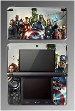 Avengers Iron Man Thor Captain America Hulk Game Vinyl SKIN Cover 8 Nintendo 3DS