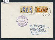 96756) Belgien SABENA FF Brüssel - New York 8.1.71, Brief ab DDR Sport