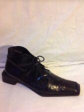 Men's Roberto Botticelli Black Ankle Leather Boots Size 38