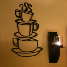 Removable DIY Kitchen Decor Coffee House Cup Decals Vinyl Metal Mug Wall Sticker